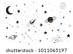 vintage space background with... | Shutterstock .eps vector #1011065197