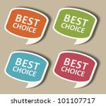 retro speech bubbles set and... | Shutterstock .eps vector #101107717