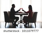 young couple having romantic... | Shutterstock . vector #1011079777