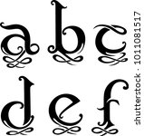 letter monogram set lowercase | Shutterstock .eps vector #1011081517