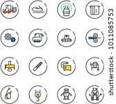 line vector icon set   fork... | Shutterstock .eps vector #1011085753