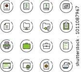 line vector icon set   passport ... | Shutterstock .eps vector #1011087967