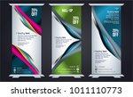 roll up design  vertical... | Shutterstock .eps vector #1011110773