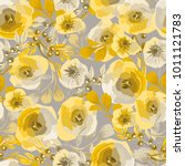 seamless pattern with delicate... | Shutterstock .eps vector #1011121783
