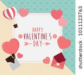 happy valentines day greeting... | Shutterstock .eps vector #1011123763