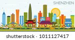 shenzhen china city skyline... | Shutterstock .eps vector #1011127417
