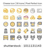 cheese line icon set | Shutterstock .eps vector #1011131143
