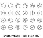 set of interface web related... | Shutterstock .eps vector #1011135487