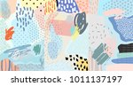 creative doodle art header with ... | Shutterstock .eps vector #1011137197