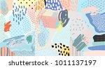 creative doodle art header with ...   Shutterstock .eps vector #1011137197