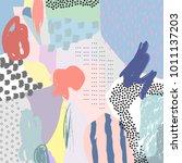 creative doodle art header with ... | Shutterstock .eps vector #1011137203