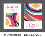 set of creative universal... | Shutterstock .eps vector #1011137233