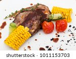 grilled porky neck stuffed with ...   Shutterstock . vector #1011153703