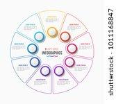vector 9 parts infographic... | Shutterstock .eps vector #1011168847