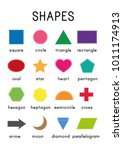 shapes worksheet. learning... | Shutterstock .eps vector #1011174913
