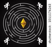 ethereum circle labirynth  ...   Shutterstock .eps vector #1011176263