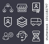 business outline vector icon...   Shutterstock .eps vector #1011182797