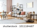 painting on white wall above... | Shutterstock . vector #1011184687