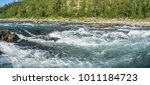 panorama of the river rapids in ...   Shutterstock . vector #1011184723