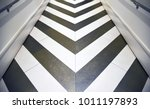 shiny gold and silver chevron...   Shutterstock . vector #1011197893