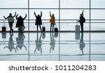 hello. full length back view of ... | Shutterstock . vector #1011204283