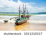 outrigger  a traditional... | Shutterstock . vector #1011210217