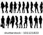 vector drawing beautiful girl... | Shutterstock .eps vector #101121823