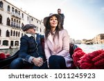 couple of lovers on vacation in ... | Shutterstock . vector #1011245923