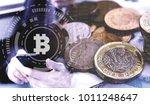 double exposure of uk stock... | Shutterstock . vector #1011248647