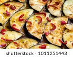 marinating eggplant slices... | Shutterstock . vector #1011251443