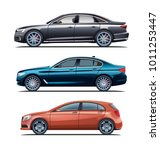 different cars vector | Shutterstock .eps vector #1011253447