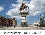 skopje  republic of macedonia   ...   Shutterstock . vector #1011260287