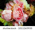 beautiful bunch of full bloom...   Shutterstock . vector #1011265933