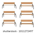 3d rendered bench at different... | Shutterstock . vector #1011272497