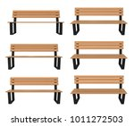 3d rendered bench at different... | Shutterstock . vector #1011272503
