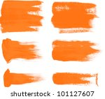 orange brush strokes   the... | Shutterstock .eps vector #101127607