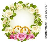 flower frame. vector white and... | Shutterstock .eps vector #101129647