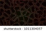 abstract neon background orange ... | Shutterstock . vector #1011304057