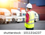 asian foreman control loading... | Shutterstock . vector #1011316237