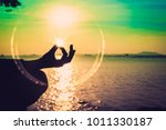 silhouette  hand of woman... | Shutterstock . vector #1011330187
