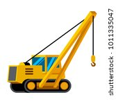 pipelayer vehicle minimalistic... | Shutterstock .eps vector #1011335047