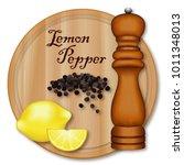lemon pepper  classic seasoning ... | Shutterstock .eps vector #1011348013