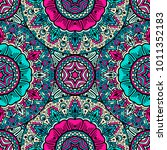 vector seamless pattern ethnic...   Shutterstock .eps vector #1011352183