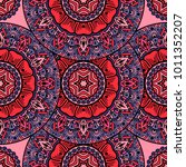 vector seamless pattern ethnic...   Shutterstock .eps vector #1011352207