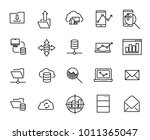 simple collection of... | Shutterstock .eps vector #1011365047
