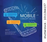 mobile phone concept design...   Shutterstock .eps vector #1011366157