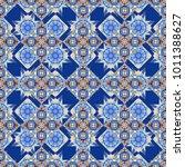 vector seamless bandana print... | Shutterstock .eps vector #1011388627