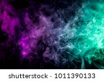 thick colorful smoke of green...   Shutterstock . vector #1011390133