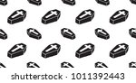 coffin seamless pattern christ... | Shutterstock .eps vector #1011392443