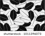 Abstract Monochrome Leaves...